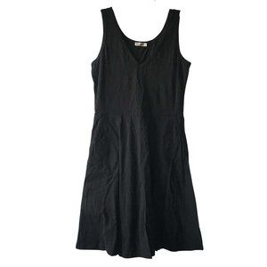 Sleeveless T-shirt Fit and Flare Dress w/pockets M